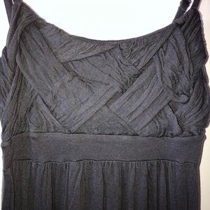 Charcoal Weaved Top  Maxi
